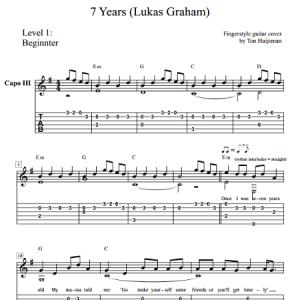7 Years (Lukas Graham) Level 1 – Guitartown.nl Justin Timberlake Can T Stop The Feeling