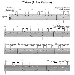 7 Years (Lukas Graham) Level 1 – Guitartown Justin Timberlake Can't Stop