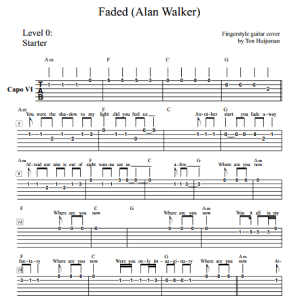 Faded (Alan Walker) Level 0 – Guitartown.nl Justin Timberlake Can T Stop The Feeling