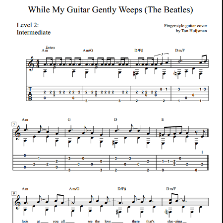 While My Guitar Gently Weeps Beatles Download